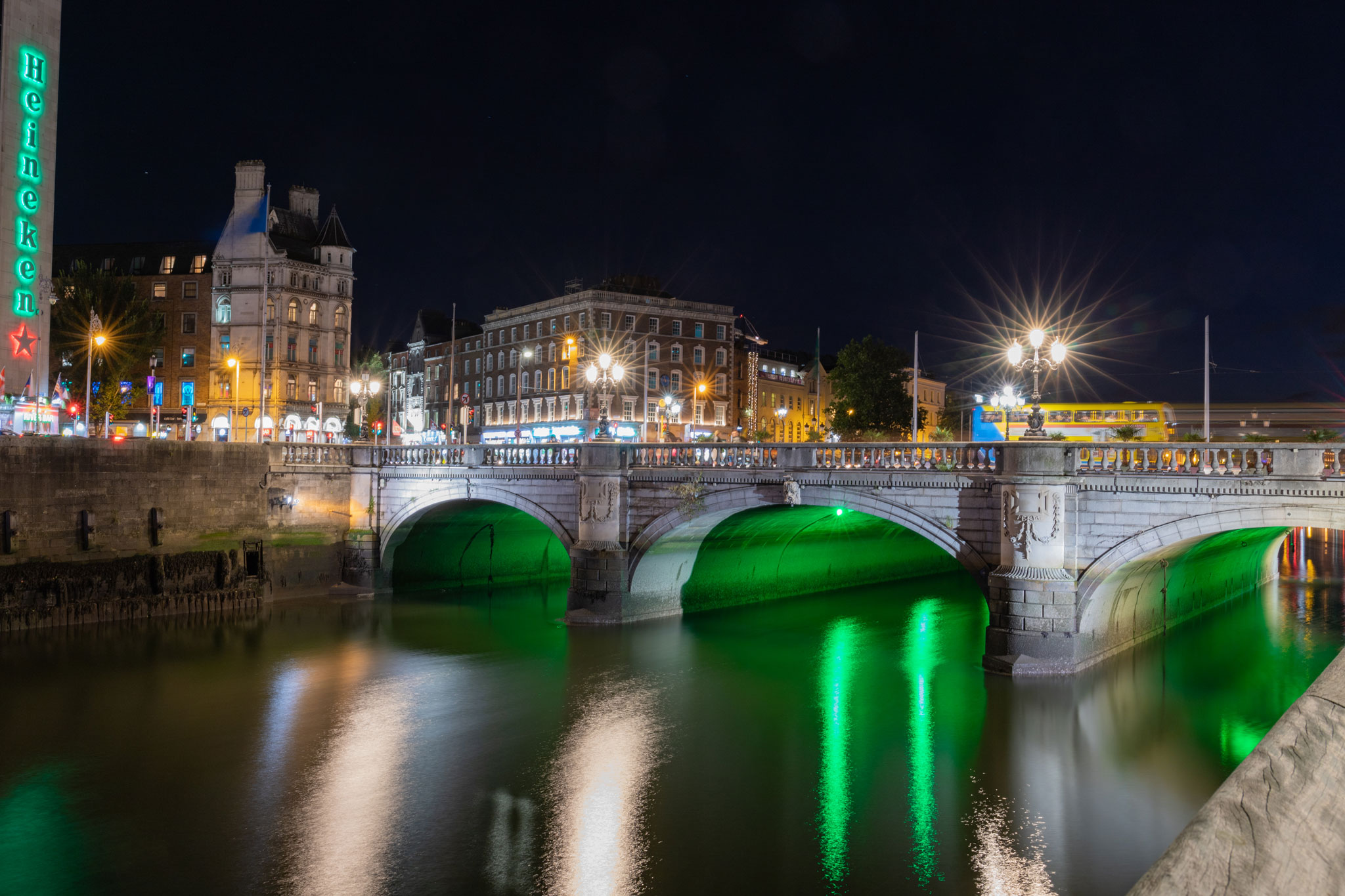 Nachtaufnahme Dublin