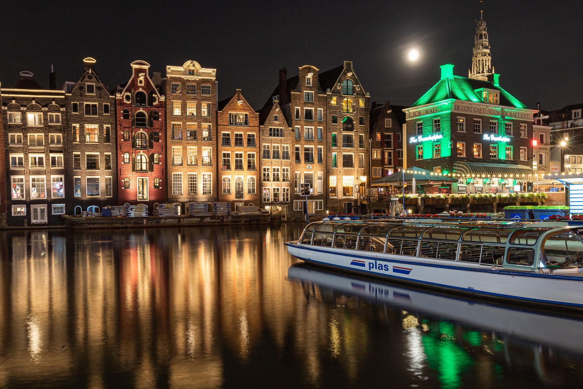Nachtaufnahme Amsterdam